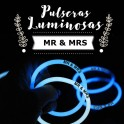 Pulseras Luminosas Personalizadas MR & MRS