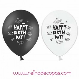 Globos Happy Birthday - 5 uds