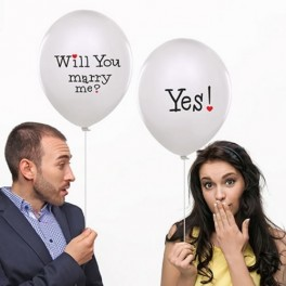 Will you Marry me - 6 Balloons