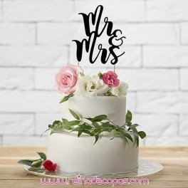 Topper para Tartas Mr Mrs