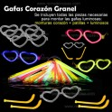 Glow heart glasses. 50 pieces in bulk