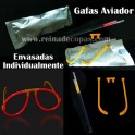 Gafas luminosas de aviador individuales. 10 uds