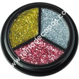 Purpurine makeup. 3 colors