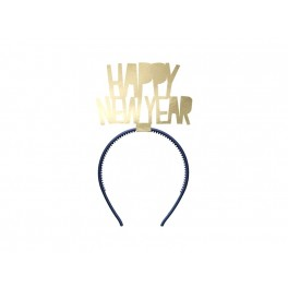 Headband Happy New Year Gold