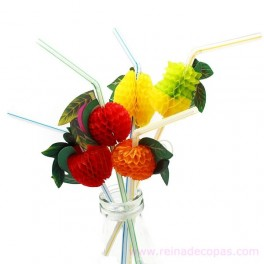 Flexible fruit straws. 100 units