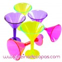 Copas Mini Martini Neon. 6 uds