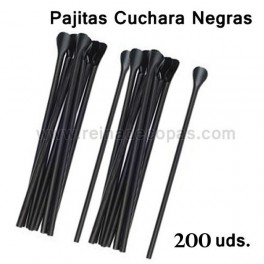 Black Spoon straws.  250 units