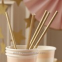 Golden Paper Straws . 25 u.