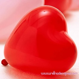 Red Heart Balloons - 10 units