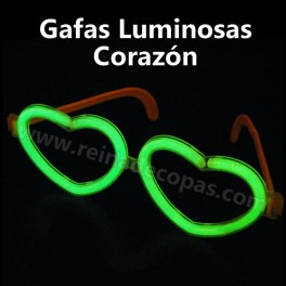 Glow heart glasses. 5 pieces individually packaged