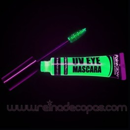 UV / Neon eyelashes makeup
